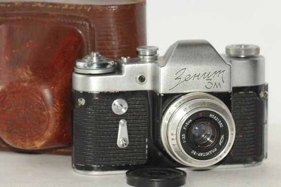 Zenit 3M SLR Camera with Industa f3.5 50mm Lens with Leica M39 Mount N64104349