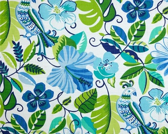 Floral Bird Shower Curtain / Custom Boutique Shower Curtain / Extra wide & extra long also!