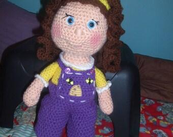 Curly Haired Doll, amigurumi, stuffed animal, plushie softies