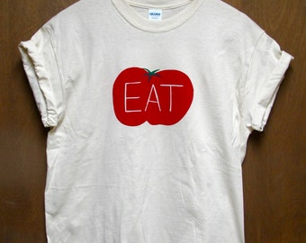 Tomato Shirt, Screen Printed Vegetable T-shirt