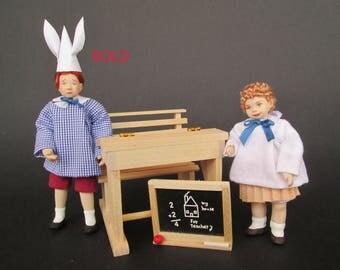 Children - Miniature handmade doll in 1:12 scale for dollhouse by Paola&Sara Miniature - Dolls, dollshouse, 1/12