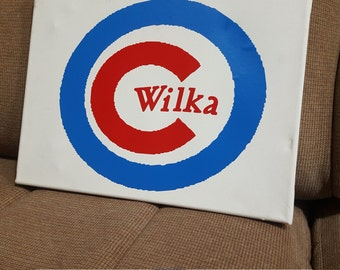 Personalized cubs canvas sign