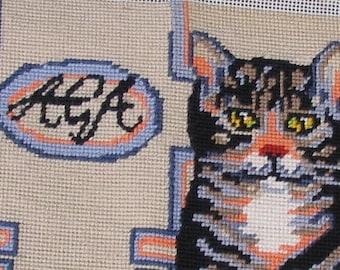 fabulous hand stitched needlepoint tableau