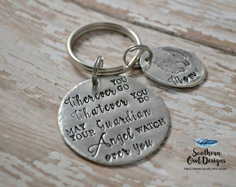 guardian angel keychain - memorial keychain -  guardian angel mom keychain - angel keychain - mom memorial keychain - any memorial