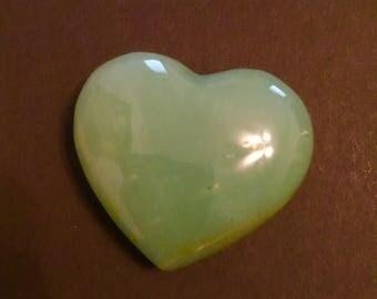 "2"" Adventurine Heart Free shipping U.S."