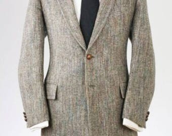 ON SALE Vintage Bachrach Gray Tweed Wool Blazer/Jacket 45 L
