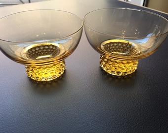 small yellow glass bowl