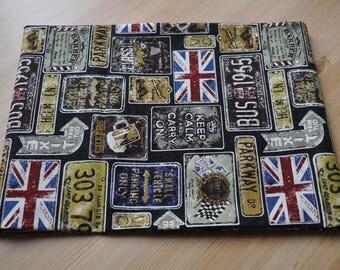London Fabric for 1/2 yard black