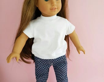 18 inch Doll Clothes - Fits American Girl Doll. Jeans. Denim.