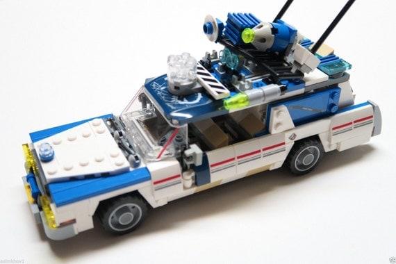 lego ghostbusters ecto 1 vehicle 75828 21108 custom blue. Black Bedroom Furniture Sets. Home Design Ideas