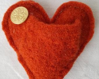 Handmade Upcycled Wool Hearts