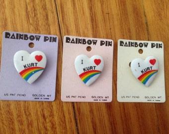 I LOVE KURT vintage pins