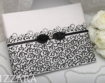 wedding album black photo book wedding Pen Holder wedding Guestbook Wedding black set Wedding guestbook white black Wedding Memory album
