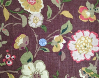 3 Yards Vintage Drapery/Upholstery Fabric Brown Print