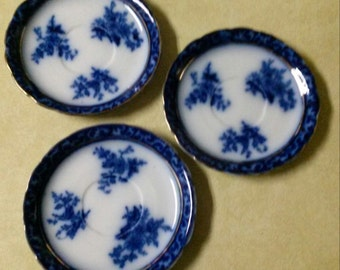 "1 Stanley Pottery Flow Blue Touraine 5 3/4"" Plate  England 329815"