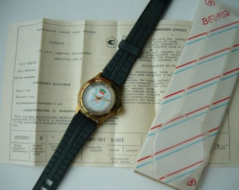 "Limited edition wostok Vintage wrist watch ""50 лет нефти / Сделано в СССР"" / women's - men's Watch Wostok / Mechanical watch Soviet Union"