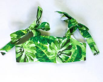Palm Leaf Crop Top , Baby Crop Top , Toddler Crop Top , Belly Shirt , Summer Top