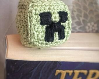 Creeper crochet bookmark