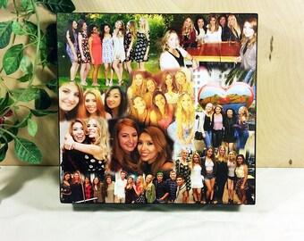 Keepsake Box, Wooden Keepsake Box, Keepsake Box Personalized, Photo Collage Box, Custom Photo Box, Photo Box, Custom Photo Collage