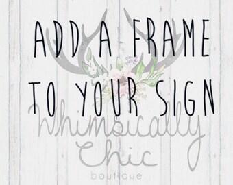 Frame add on