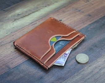 Leather Card Wallet in Horween Dublin