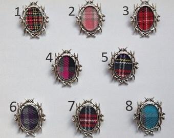Outlander inspired Scottish antler brooch (antique silver colour)