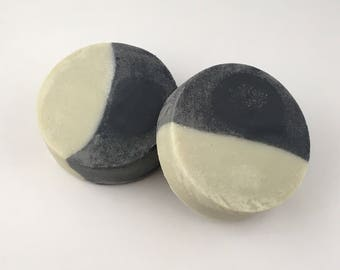 Bentonite Clay, Activated Charcoal soap, unscented soap, detox soap, natural soap, facial soap