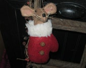 Mitten - Mouse - Ornament - Christmas - Holiday Decoration