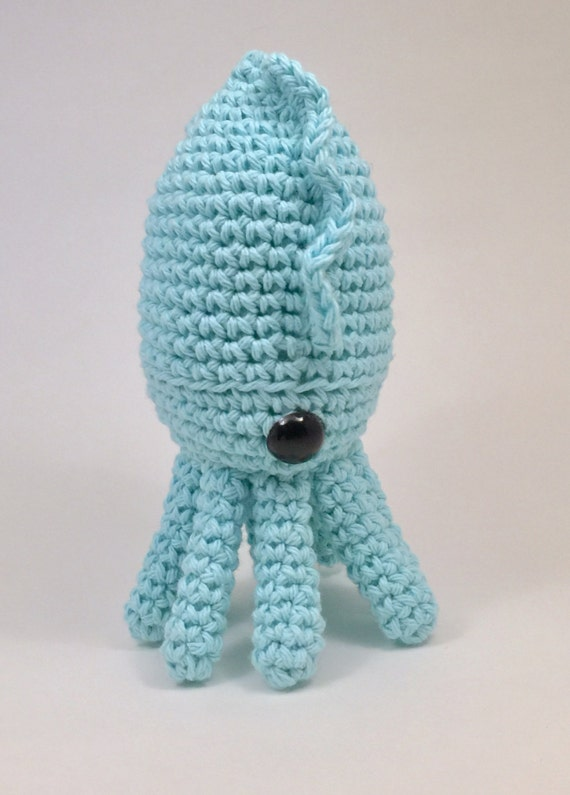 Crochet amigurumi cuttlefish pattern toy plushy from