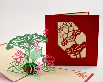 3D pop up card, Thank You Greeting Card, Get Well, 3D card, Special Thanks