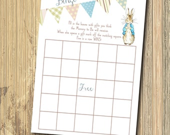 Vintage Peter Rabbit BINGO Game/INSTANT DOWNLOAD/Digital/printable/matches baby shower invitation