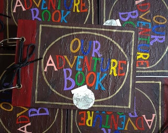 A5 RINGBOUND Up Inspired Our Adventure Book, Wedding, Valantines, Couple, Partner Scrap Book Album or Guest Book FINAL STOCK
