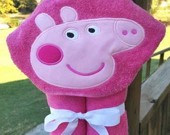 Peppa Pig Hooded Towel with FREE Embroidered Name