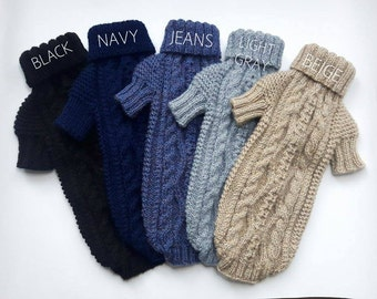 Dog Sweater Yorkie Fisherman Pet Clothing Small Dog Clothing Knitted Pet Tops