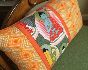 Buddha Lmbar Pillow 14x8