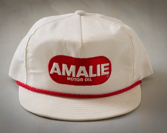70s Vintage AMALIE Motor Oil Trucker Hat | RETRO Snapback Cap | Vintage Advertising, Branding,  | Hipster