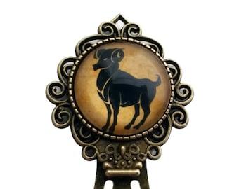 Zodiac Aries Bookmark