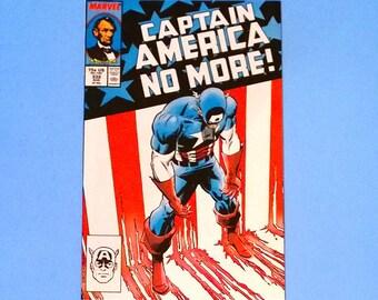 Captain America; No.332 Marvel Comic, Grade NM 1987, Vintage Captain America, Key Captain America Comic Book, Vintage Comics,Cap America, B1