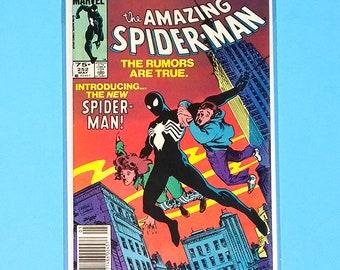 Amazing Spiderman 252 Comic Book, VF/NM Marvel Comics, Symbiote, B2