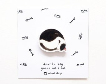 Lizzy - Aclyric Pin - Cat Gifts - Cat Brooch