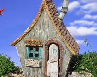 Ramshackle Fairy House for Miniature Garden, Fairy Garden