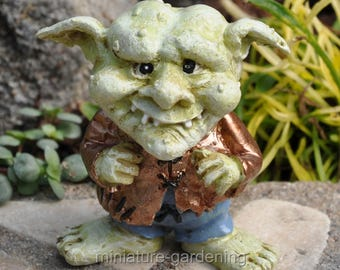 Unk the Troll for Miniature Garden, Fairy Garden