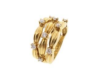 TIFFANY SIGNATURE SERIES 18K Yellow Gold & Diamond Ring
