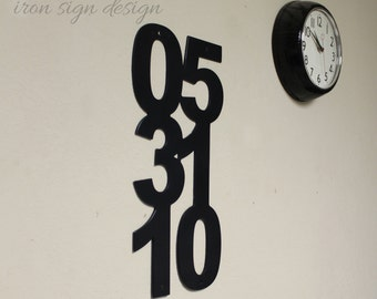 Custom Iron Date sign , Date wall decor, metal date