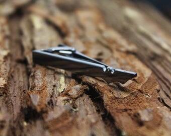 gun black bat tie clip super hero tie clip man gift