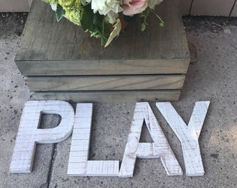 play sign / PLAYROOM Signs / Rustic Playroom Wall Decor / Farmhouse Sign / Kid's Room Decor / Kid's Wall Art / Children's Room