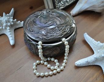 Dancing Mermaid Trinket Box+Little Mermaid+Mermaid Jewelry+Mermaid Jewelry Box