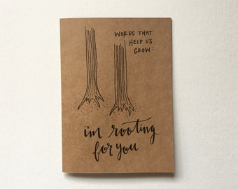 Words That Help Us Grow Greeting Card