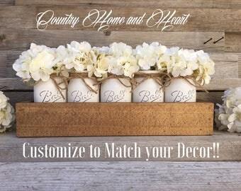 Modern Rustic Planter Box, Centerpieces,Mason Jar Decor,Wood Planters,Centerpiece,Home Decor,Planter Box,Rustic Decor,Country Living Decor