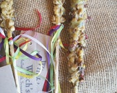 "Witch's Candle - mullein torch for outdoor ceremony, Beltane - beeswax candle - approx. 6.5"", burns 60mins - sweetgrass, elder flower, rose"